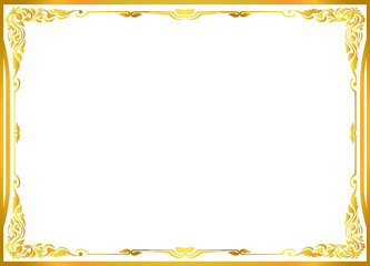 Wall Mural - gold frame floral , vector