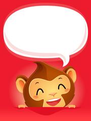 Monkey with empty Speech Bubble