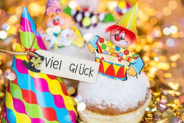lustige Pfannkuchen mit Figuren Clown