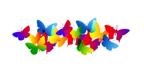 farfalle, silhouette, sagome, volare, leggerezza, volo