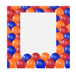 Birthday photo frame with color balloon