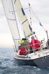 regata di barche a vela nel Mar Mediterraneo