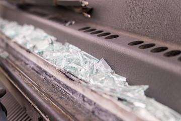 Car glass broken