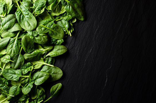 Fresh spinach background