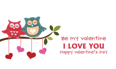 The Owl For valentine's Day