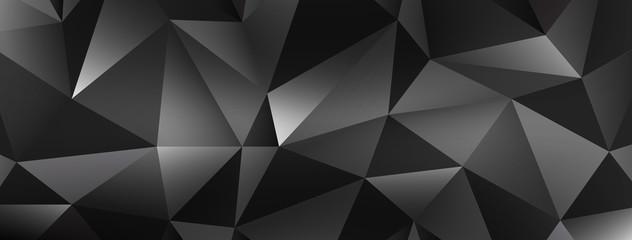 Polygonal dark vector background.