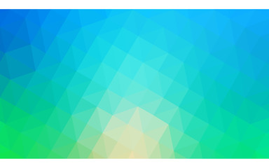 Multicolor green, blue polygonal design illustration, which consist of triangles and gradient in origami style.