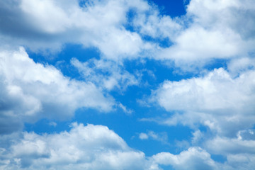 Blue Sky White Clouds Background Cloudy Skies Texture Skyscape P