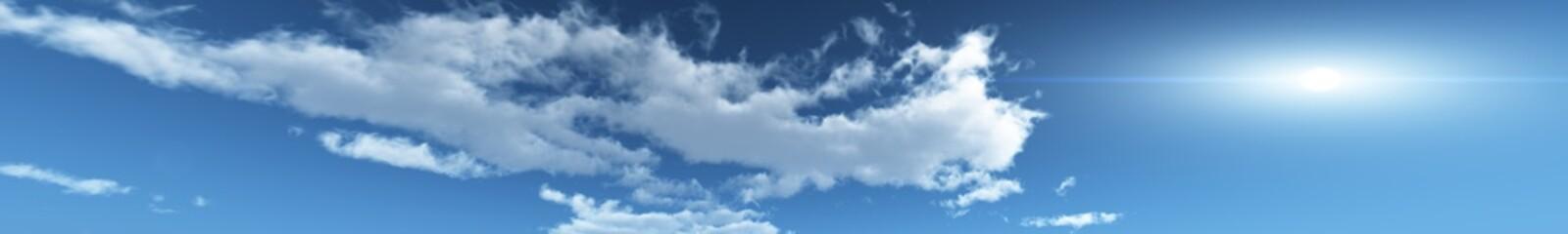 panorama sky skyline, clouds, sun in the clouds