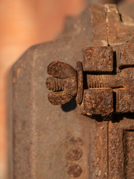 Rusty Wing Nut and Bolt