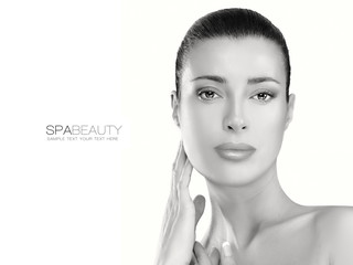 Skin Care Concept. Spa Woman. Beauty Face.