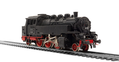 alte modelleisenbahn dampflok, lok, lokomotive