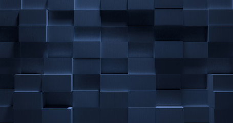 3D Stylish Blue Metal Background