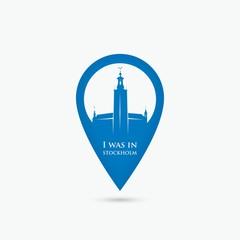 Stockholm location pin