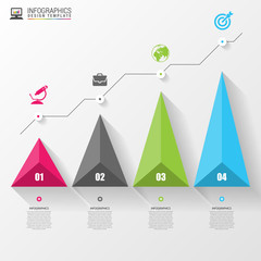 3D graph for infographic. Modern design template. Vector