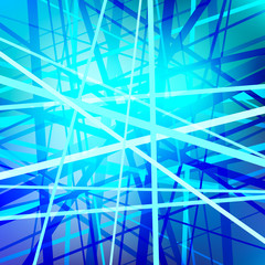Vector lines, abstract background, blue network, technology wallpaper