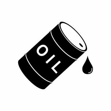 Barrel and drop Oil icon