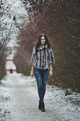 A beautiful portrait of a girl on a walk 4987.