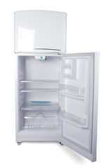 Refrigerator in white background