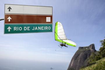 gliding flight on Rio de Janeiro