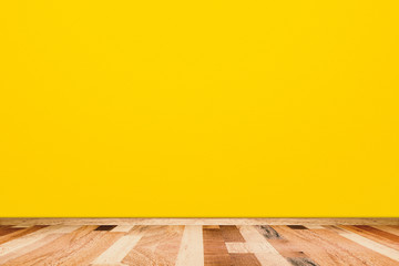 Abstract yellow room