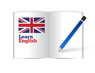 learn english book illustration