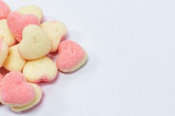 Heart shaped sugar jelly