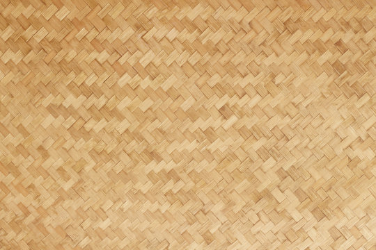 Bamboo woven flat mat natural bamboo background