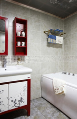 Chinese-style bathroom interiors
