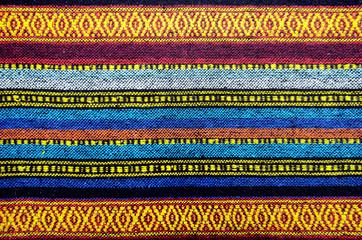Handmade woven cotton fabrics.