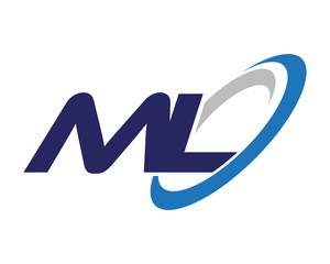 ML Letter Swoosh Label Logo