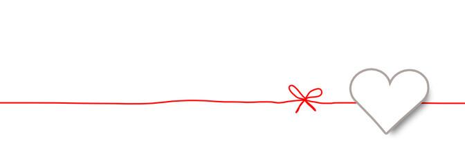 Herzen Band Banner Schleife Hintergrund Rot Herz Etikett Anhänger