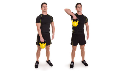 Kettlebell, Uni Upright Row, Exercise