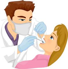 Man Dentist Patient Tooth Fix