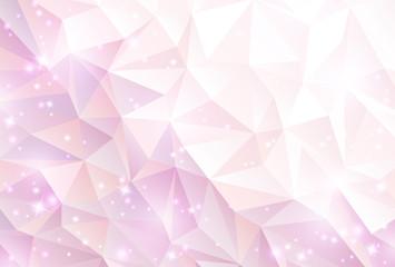 ピンク ポリゴン 光 背景