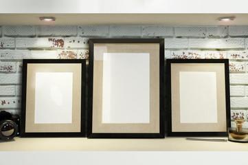 mock-up frames in interior