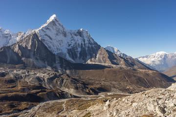 Ama Dablam mountain peak from Chukung Ri