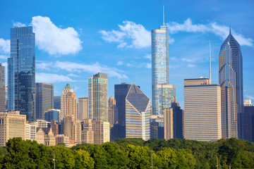 Photo sur Toile Chicago Cityscape of Chicago downtown, United States