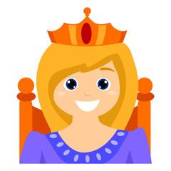 Child dress as a Queen