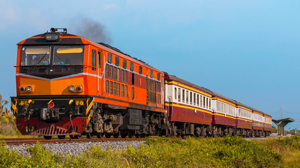 Passenger train was departing rural station, 2015.