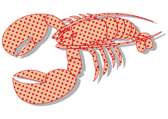 Homard pop art