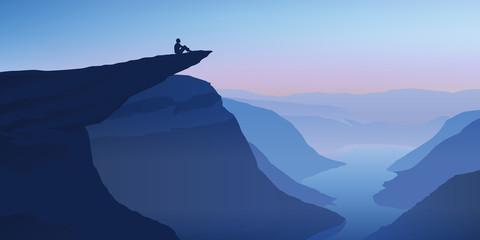 Paysage Trolltunga-Norvège
