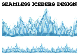 Seamless iceberg design with high peaks