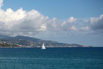 Beautiful seascape and sailing boat