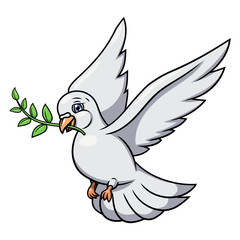 Dove with olive branch 2