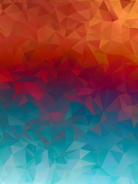 Blue and red, burning Polygonal Mosaic Background, Vector illustration,  Creative  Business Design Templates