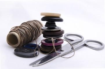 Композиция с акссесуарами для шитья