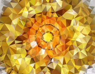 Honey-colored Polygonal Mosaic Background, Vector illustration,  Creative  Business Design Templates