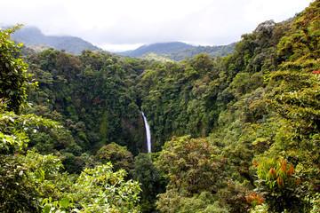 Famous waterfall La Fortuna (Costa Rica)