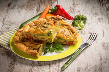 omelette with mixed vegetables